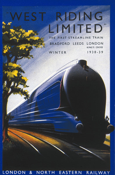 west-riding-limited-the-first-streamline-train-mallard-art-deco-vintage-retro-advert-london-and-north-eastern-railway-for-house-home-bar-or-pub-metal-steel-wall-sign
