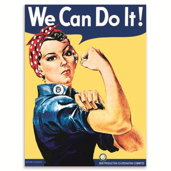 we-can-do-it-ww2-wwii-land-girls-poster-recruitment-morale-retro-vintage-woman-in-work-wear-head-scarf-muscles-metal-steel-wall-sign