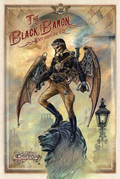 the-black-baron-where-angels-fear-to-fly-steam-punk-in-london-skulls-alchemy-gothic-comic-book-character-tattoo-design-metal-steel-wall-sign