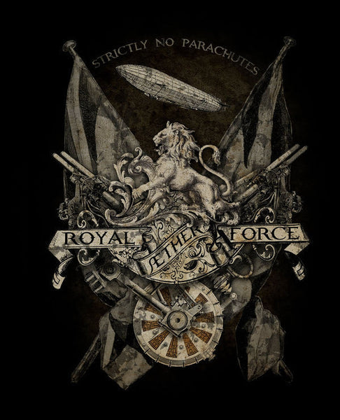 royal-aether-force-steampunk-gothic-alchemy-empire-lion-metal-steel-wall-sign