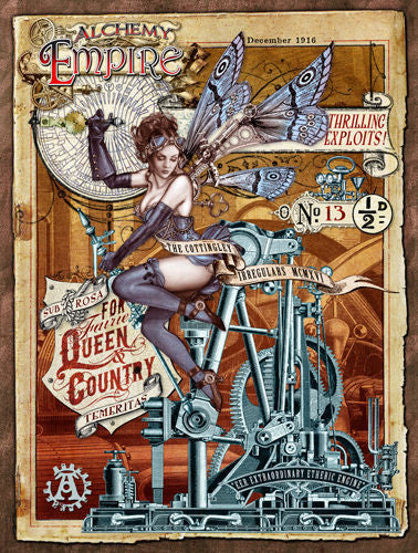 empire-queen-country-steam-punk-sexy-gothic-lady-woman-with-butterfly-wings-for-bedroom-bar-pub-or-club-metal-steel-wall-sign