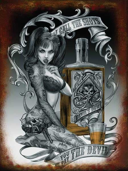 devil-shots-alchemy-gothic-tattoo-girl-steampunk-pinup-metal-steel-wall-sign