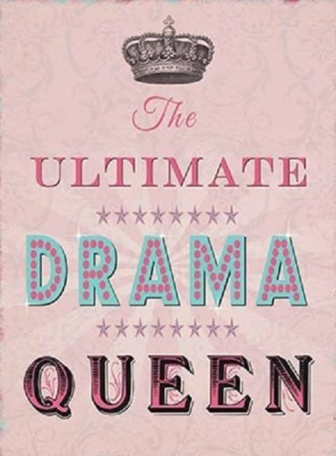 The ultimate drama queen. Pink in the style carry present.  Fridge Magnet
