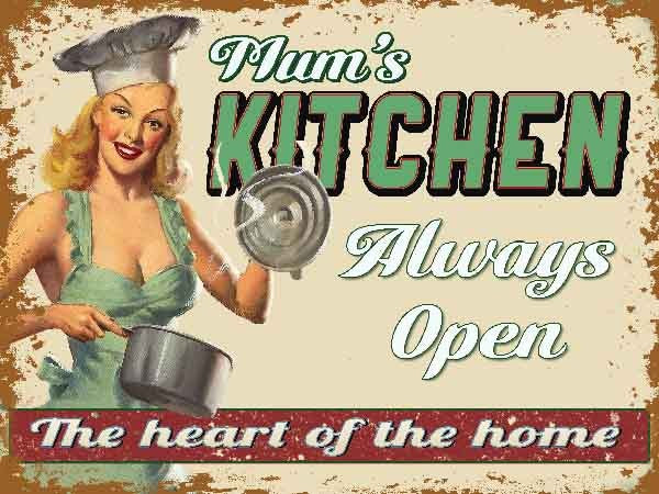 Mum's Kitchen. Always open. The heart of the home. fridge.  Fridge Magnet