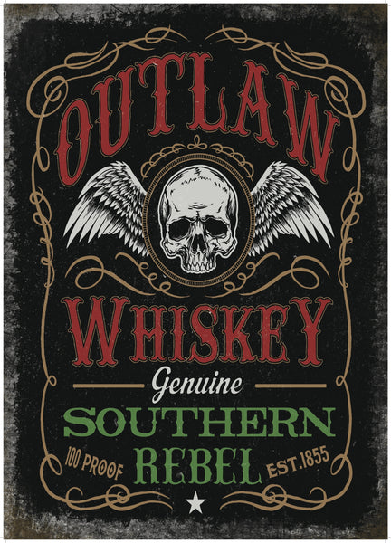 outlaw-whiskey-pub-bar-man-cave-biker-shed-old-advertising-metal-steel-wall-sign