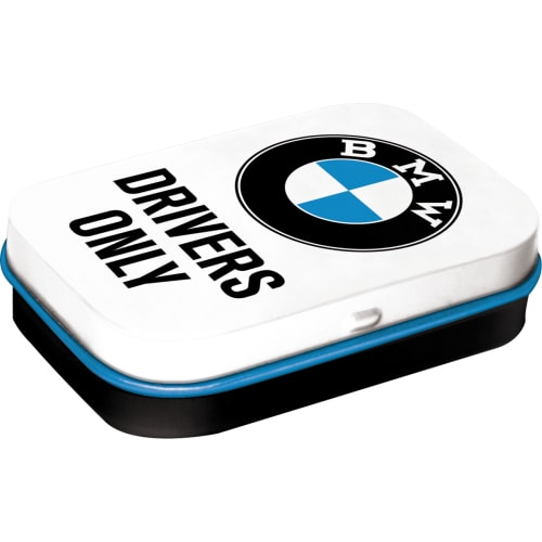BMW Drivers Only Car Classic Logo Garage Metal/Tin Mint Box