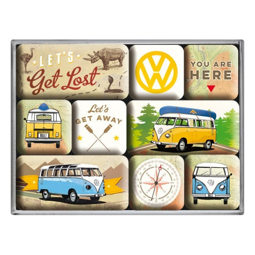 9-piece-vw-splitty-bulli-lets-get-lost-classic-camper-van-fridge-magnet-gift-set