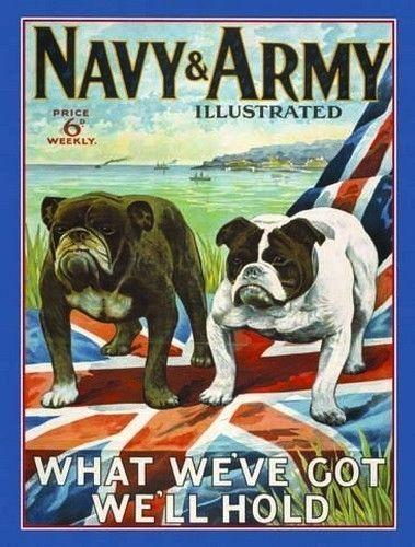 Navy & Army Illustrated Magazine Cover. Two British  Metal/Steel Wall Sign
