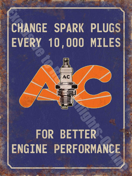 ac-spark-plugs-engine-performance-parts-vintage-garage-metal-steel-wall-sign