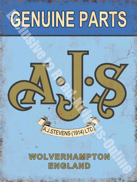 ajs-genuine-parts-motorcycle-vintage-garage-metal-steel-wall-sign