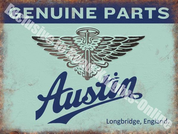 austin-genuine-parts-vintage-car-garage-metal-steel-wall-sign