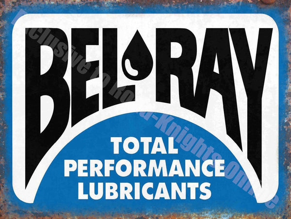 bel-ray-total-performance-lubricants-garage-metal-steel-wall-sign