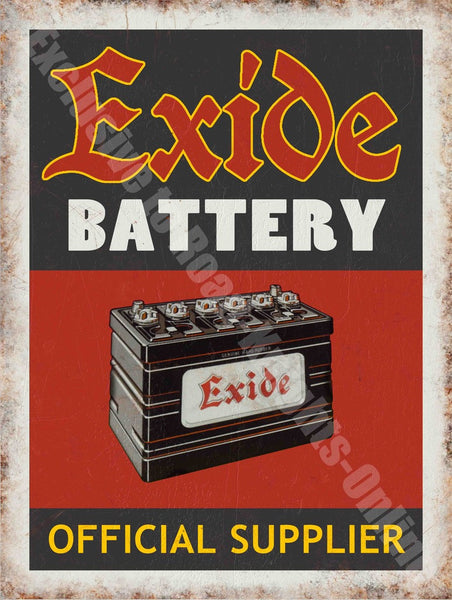 exide-battery-official-supplier-vintage-garage-advert-metal-steel-wall-sign