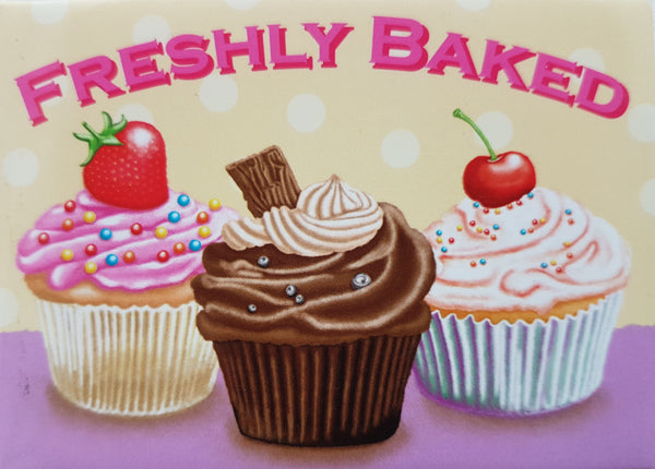 Your favourite cupcakes, freshly baked. Strawberry,  Metal/Steel Wall Sign