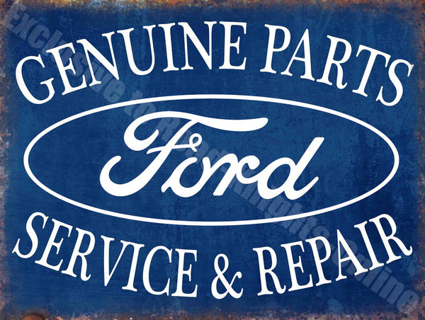 ford-genuine-parts-service-repair-vintage-garage-metal-steel-wall-sign