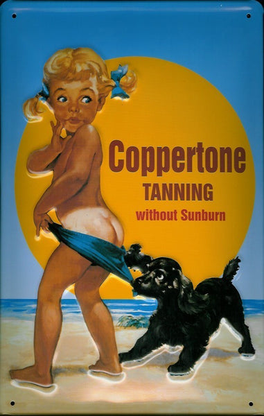 coppertone-sun-tanning-holiday-beach-sea-bathroom-3d-metal-steel-wall-sign