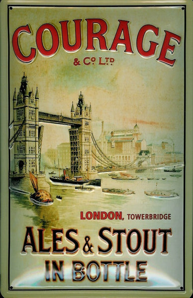 courage-ales-stout-towerbridge-london-beer-drink-3d-metal-steel-wall-sign