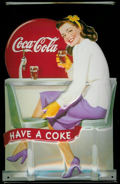 coca-cola-diner-girl-coke-soft-drink-cafe-pub-bar-3d-metal-steel-wall-sign
