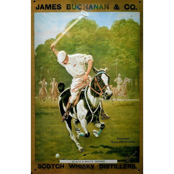 james-buchanan-scotch-whisky-polo-horse-old-advert-3d-metal-steel-wall-sign