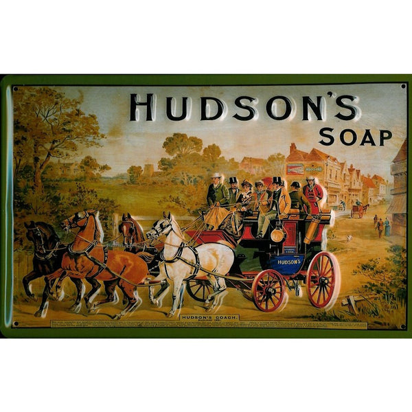 hudson-s-soap-old-coach-horses-bathroom-kitchen-3d-metal-steel-wall-sign