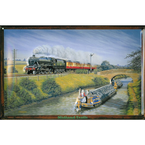 midland-trails-steam-train-canal-barge-narrowboat-3d-metal-steel-wall-sign