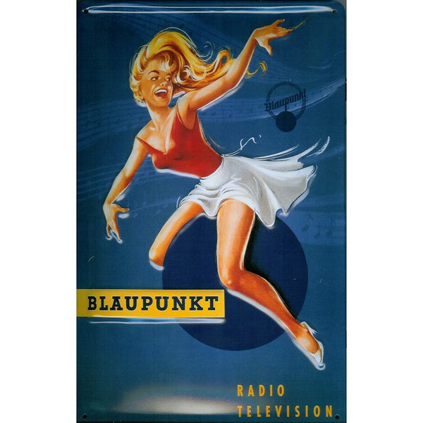 blaupunkt-music-pinup-girl-radio-tv-advertising-3d-metal-steel-wall-sign