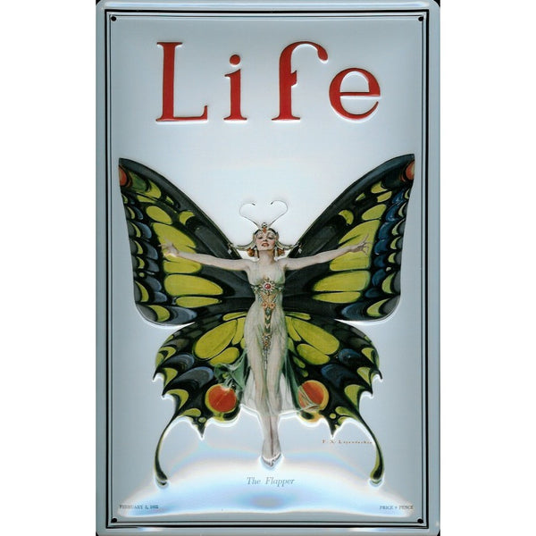 life-magazine-20-s-cover-butterfly-girl-art-deco-3d-metal-steel-wall-sign