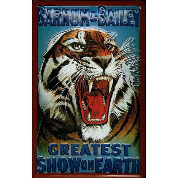 circus-vintage-advertising-tiger-greatest-show-3d-metal-steel-wall-sign