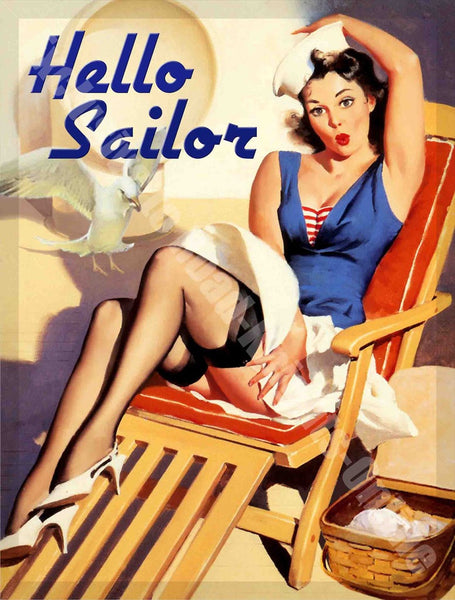 hello-sailor-pin-up-girl-boat-sailing-yacht-relax-metal-steel-wall-sign