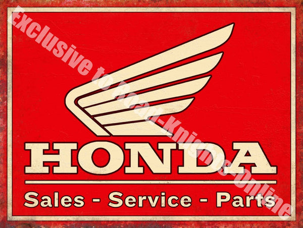 honda-sales-service-parts-motorcycle-car-metal-steel-wall-sign