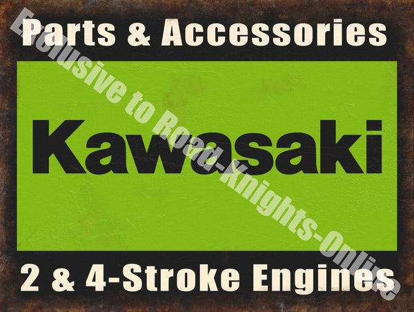 kawasaki-parts-accessories-2-4-stroke-engine-motorcycle-metal-steel-wall-sign