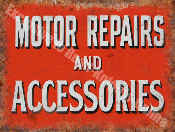motor-repairs-accessories-vintage-garage-workshop-advert-metal-steel-wall-sign