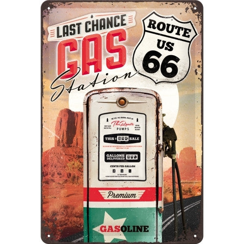 last-chance-gas-station-route-66-us-usa-road-sign-iconic-road-highway-road-trip-country-gasoline-petrol-pump-automotive-ideal-for-garage-kitchen-diner-cafe-coffee-shop-3d-metal-steel-wall-sign