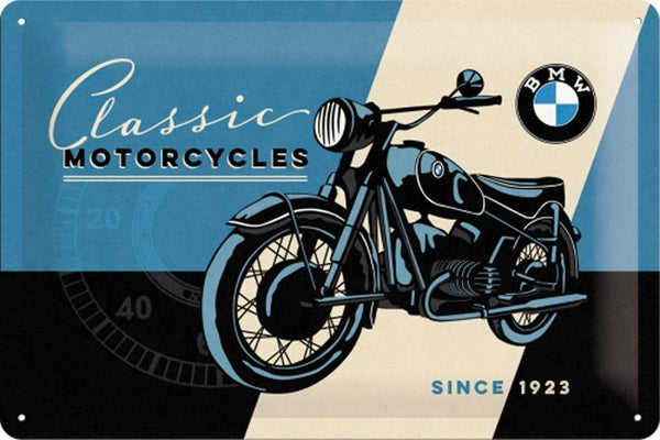 bmw-classic-motorcycles-since-1923-vintage-retro-german-ideal-for-house-home-garage-pub-or-bar-3d-metal-steel-wall-sign