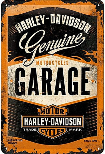 harley-davidson-genuine-garage-motorcycles-bike-chopper-vintage-retro-in-design-1950-s-1960-s-flames-authorised-service-garage-ideal-for-home-house-garage-shed-or-man-cave-hog-easy-rider-3d-metal-steel-med-wall-sign