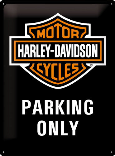 harley-davidson-motor-cycles-parking-only-badge-logo-on-black-brick-wall-ideal-for-house-home-garage-drive-shed-man-cave-pub-or-bar-iconic-american-bikes-seen-in-films-such-as-easy-rider-hog-chopper-3d-metal-steel-large-wall-sign