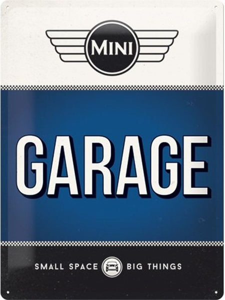 mini-garage-service-car-van-british-classic-retro-3d-metal-steel-wall-sign