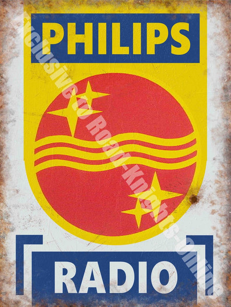 philips-radio-retro-advert-electronic-garage-sign-metal-steel-wall-sign