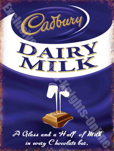 Cadbury's Dairy Milk Chocolate Classic Advert Metal/Steel Wall Sign