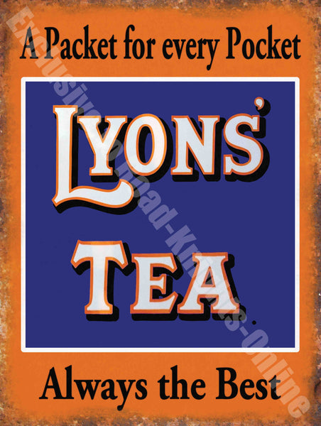 Lyons' Tea Vintage Food & Drink, 83, Cafe Kitchen Metal/Steel Wall Sign