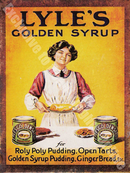 Lyle's Golden Syrup, Vintage kitchen Advert Metal/Steel Wall Sign