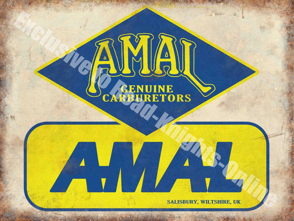amal-genuine-carburettors-salsbury-wilshire-uk-blue-and-yellow-logo-on-white-back-ground-old-retro-vintage-motor-cycle-bike-for-house-home-bar-club-garage-shed-pub-or-shop-metal-steel-wall-sign