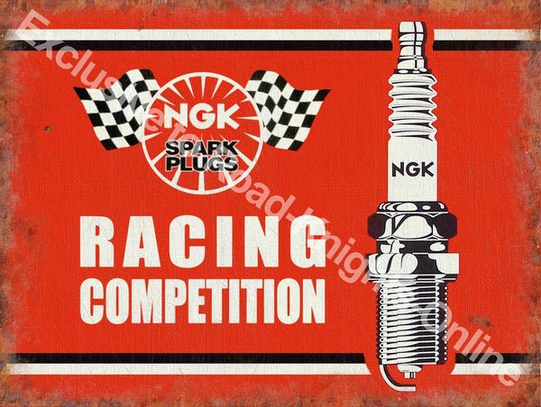 ngk-racing-competition-spark-plugs-cars-bikes-motor-racing-red-sign-with-black-and-white-image-old-retro-vintage-for-house-home-bar-garage-pub-or-bar-metal-steel-wall-sign