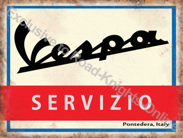 vespa-scooter-sevizio-service-sign-in-italian-logo-on-white-red-and-blue-back-ground-old-retro-vintage-for-house-home-garage-shop-bar-or-pub-metal-steel-wall-sign