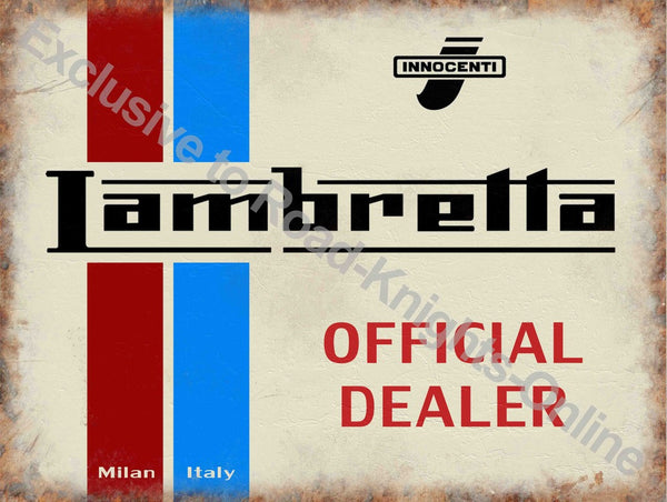lambretta-scooter-official-dealer-innocenti-logo-on-white-red-and-blue-milan-italy-old-retro-vintage-for-house-home-bar-garage-pub-or-shop-metal-steel-wall-sign