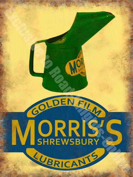 morris-oil-can-golden-film-lubricants-old-vintage-garage-shrewsbury-metal-steel-wall-sign