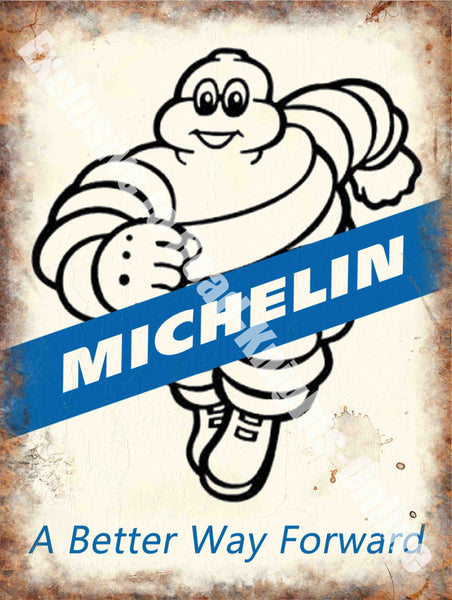 Michelin 171, A Better way Forward, Tyres Tires, Vintage Car Garage, Running Rubber M Fridge Magnet