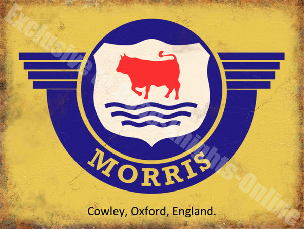 morris-badge-logo-old-classic-car-van-vintage-garage-spares-metal-steel-wall-sign