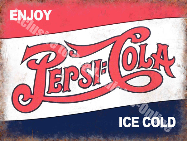 pepsi-cola-classic-drink-advertising-cafe-diner-pub-bar-metal-steel-wall-sign