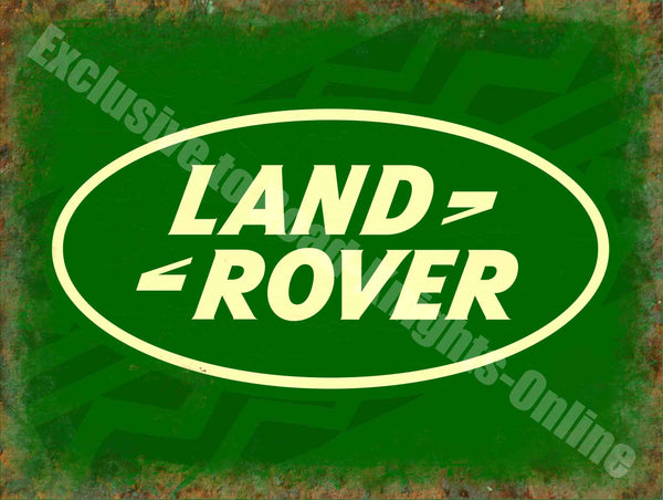 land-rover-badge-logo-vintage-garage-196-old-advert-metal-steel-wall-sign